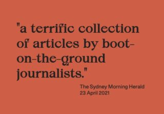 """Quote: A terrific collection of articles by boots-on-the-ground journalists."""""""